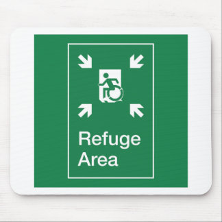 Accessible Means of Egress Icon Fire Refuge Area Mouse Pad