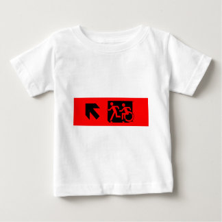 Accessible Means of Egress Icon Running Man Exit Baby T-Shirt