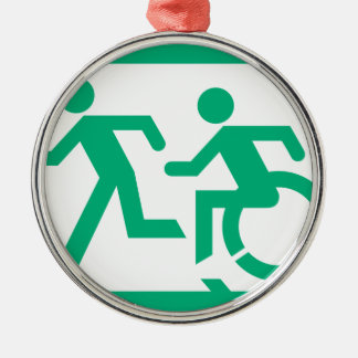 Accessible Means of Egress Icon Running Man Exit Metal Ornament