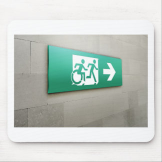 Accessible Means of Egress Icon Running Man Exit Mouse Pad
