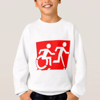 Accessible Means of Egress Icon Running Man Exit Sweatshirt