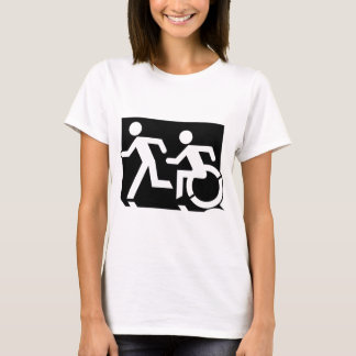Accessible Means of Egress Icon Running Man Exit T-Shirt