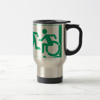 Accessible Means of Egress Icon Running Man Exit Travel Mug
