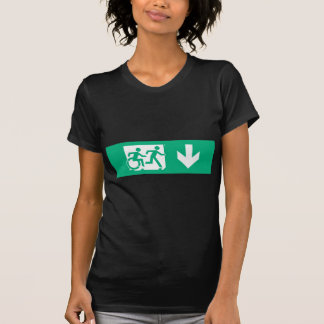 Accessible Means of Egress Icon Running Man Exit Tshirt