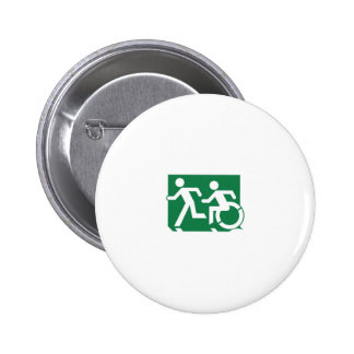 Accessible Means of Egress Icon Running Man Sign Buttons