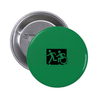 Accessible Means of Egress Icon Running Man Sign Pinback Buttons