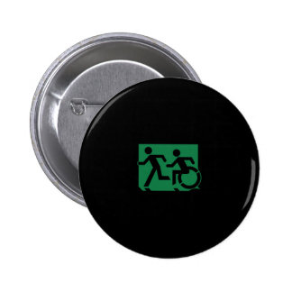 Accessible Means of Egress Icon Running Man Sign Pin
