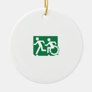Accessible Means of Egress Icon Running Man Sign Ceramic Ornament