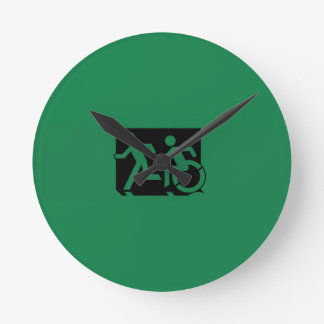 Accessible Means of Egress Icon Running Man Sign Wallclock