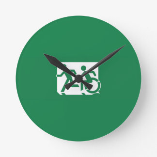 Accessible Means of Egress Icon Running Man Sign Clock