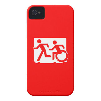 Accessible Means of Egress Icon Running Man Sign iPhone 4 Case