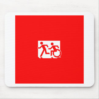 Accessible Means of Egress Icon Running Man Sign Mouse Pad