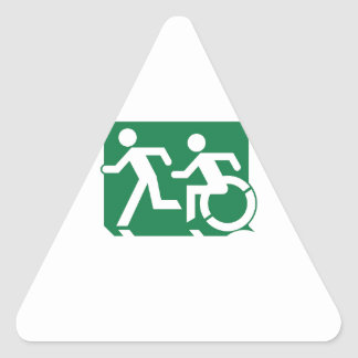 Accessible Means of Egress Icon Running Man Sign Triangle Sticker