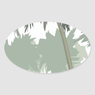 accessories landscapes vector oval sticker