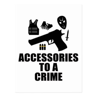 Accessories to a Crime Postcard