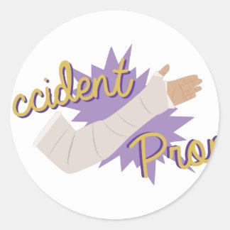 Accident Prone Classic Round Sticker