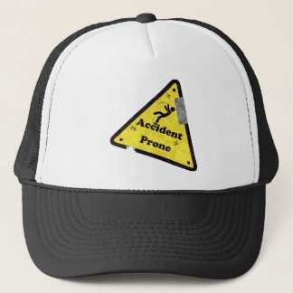 Accident Prone Funny T-Shirt Trucker Hat