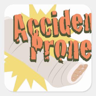 Accident Prone Leg Square Sticker