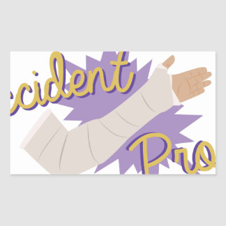 Accident Prone Rectangular Sticker
