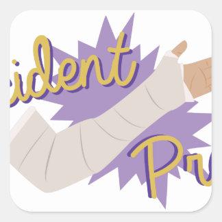 Accident Prone Square Sticker