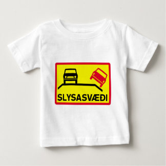 Accident Risk Area, Traffic Sign, Iceland Baby T-Shirt