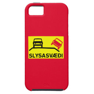 Accident Risk Area, Traffic Sign, Iceland iPhone SE/5/5s Case