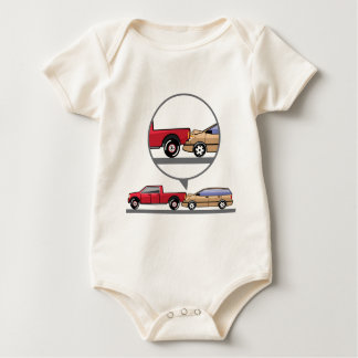 Accident Truck and Wagon Suv Wreck Baby Bodysuit