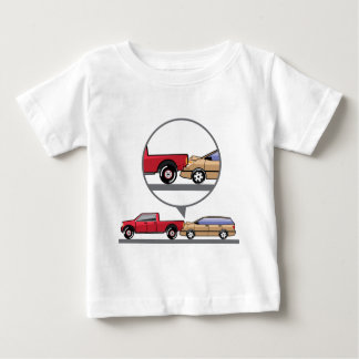 Accident Truck and Wagon Suv Wreck Baby T-Shirt