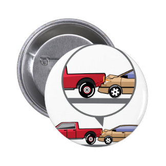 Accident Truck and Wagon Suv Wreck Pinback Button