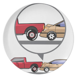 Accident Truck and Wagon Suv Wreck Plate