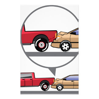 Accident Truck and Wagon Suv Wreck Stationery