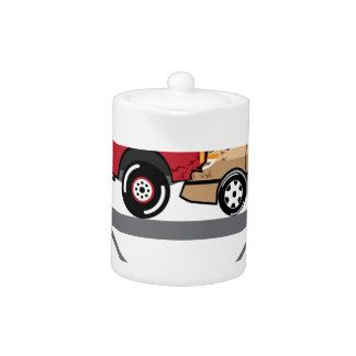 Accident Truck and Wagon Suv Wreck Teapot