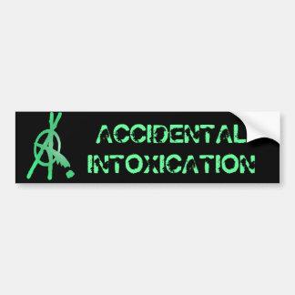 ACCIDENTAL INTOXICATION BUMPER STICKER