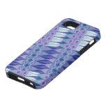 Accidente abstracto bonito en púrpura y azul iPhone 5 fundas
