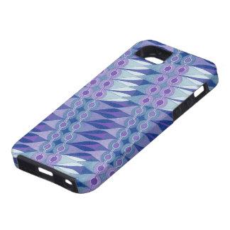 Accidente abstracto bonito en púrpura y azul funda para iPhone SE/5/5s