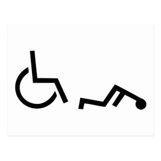 Accidente de la silla de ruedas tarjetas postales