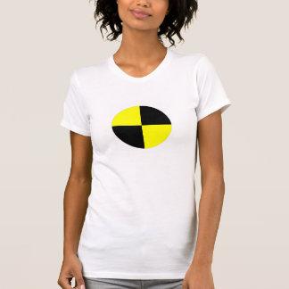 accidente de tráfico de la muestra del símbolo de  camiseta
