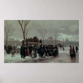 Accidente del autobús de París Póster