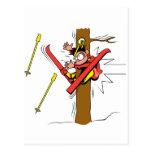 Accidente del esquí postal
