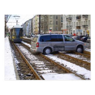 Accidente en Berlín PrenzlBerg Tarjeta Postal