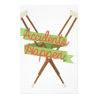 Accidents Happen Crutches Stationery