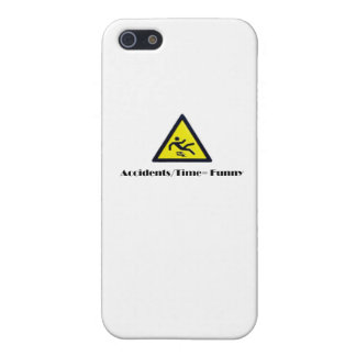 Accidents/Time=Funny Coffee Mug iPhone SE/5/5s Cover