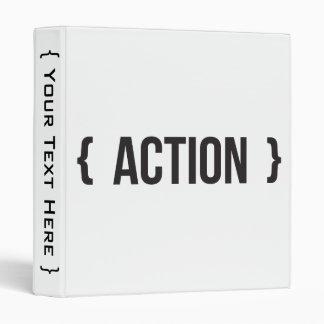 """Acción - acorchetada - blanco y negro carpeta 1"""""""