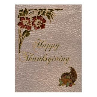 Acción de gracias 1 de la Cuero-Mirada Tarjetas Postales