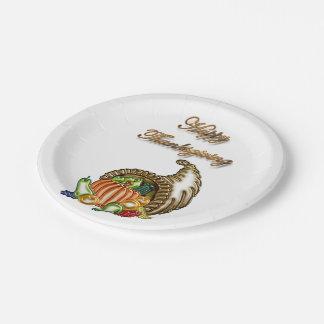 Acción de gracias #1 plato de papel de 7 pulgadas