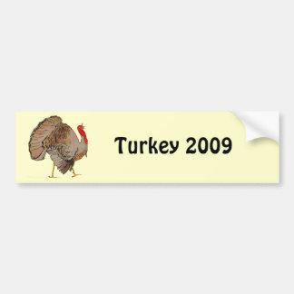 Acción de gracias a todo color Turquía Pegatina De Parachoque