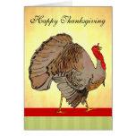 Acción de gracias a todo color Turquía Tarjeta