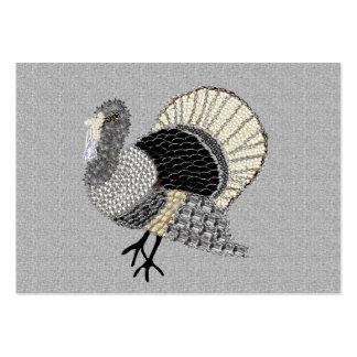 Acción de gracias adornada blanco y negro Turquía Tarjetas De Visita Grandes