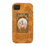 Acción de gracias blanca Turquía del vintage iPhone 4/4S Funda