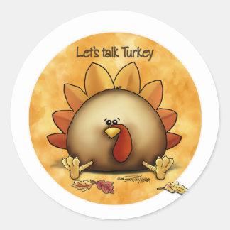 Acción de gracias - charla Turquía Pegatina Redonda